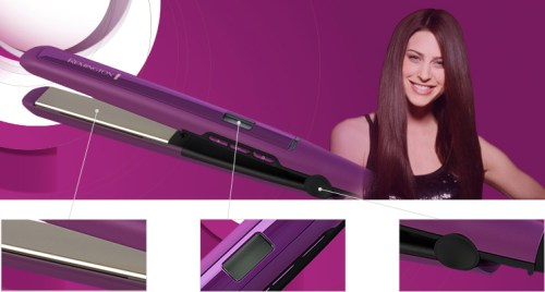 Remington S5500 Digital Anti Static Ceramic Hair Straightener, 1-Inch, Purple - Hair Straightener