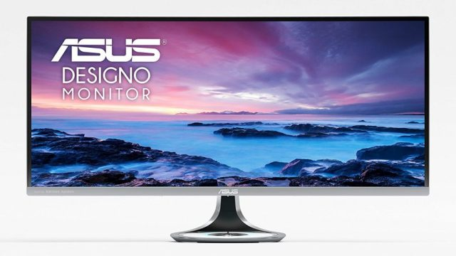 "ASUS Designo Curved MX34VQ 34"" UWQHD 100Hz DP HDMI Eye Care Frameless Monitor with Adaptive-Sync - Touch Screen Monitor"
