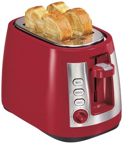 Hamilton Beach Ensemble Extra-Wide Slot 2-Slice Toaster, Red (22812) - Slice Toaster