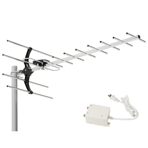 1byone 80 Miles Digital Amplified Outdoor / Roof HDTV Antenna Extremely High Performance for UHF Band - long range outdoor HDTV antenna