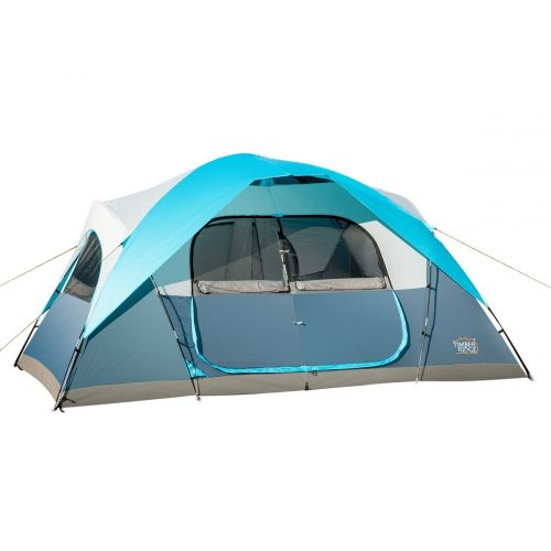 Timber Ridge Large Family Tent for Camping with Carrying Bag, 2 Rooms - best family tents