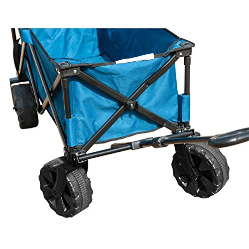 TimberRidge Folding Camping Wagon/Cart - Collapsible Sturdy Steel Frame Garden/Beach Wagon/Cart-Garden Carts