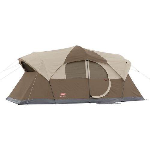 Coleman WeatherMaster 10 Person Hinged Door Tent - best family tents