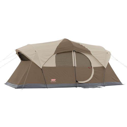 Coleman WeatherMaster 10 Person Hinged Door Tent - best family tents