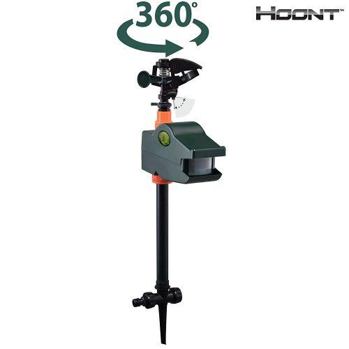 Hoonts Powerful Outdoors Water Jets Blaster Animals Pest Repeller - Motion Sensor Sprinkler