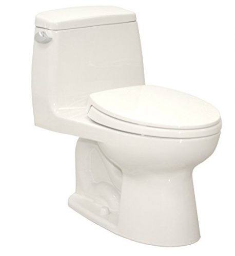 TOTO MS854114S#01 Ultramax Elongated One Piece Toilet, Cotton White - one piece toilets