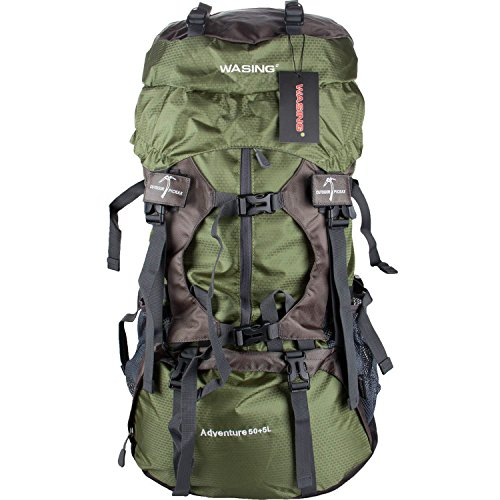 589af6c99bcf WASING 55L Internal Frame Backpack Hiking Backpacking Packs for Outdoor  Hiking Travel Climbing Camping Mountaineering with