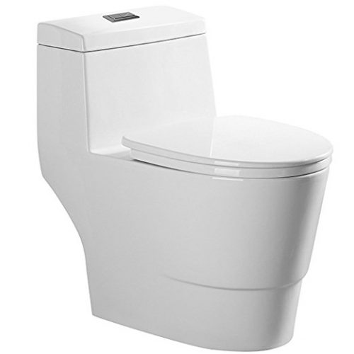 Woodbridge Dual Flush Elongated One Piece Toilet - one piece toilets