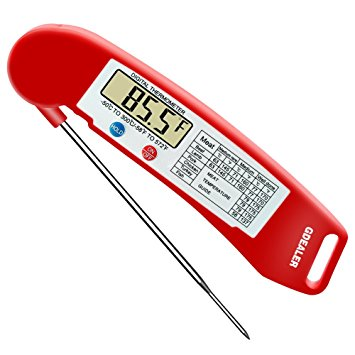 GDEALER Instant Read Thermometer Super-Fast Digital Electronic Food Thermometer Cooking Thermometer Barbecue Meat Thermometer - meat thermometer