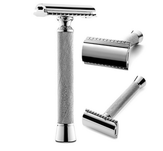 Perfecto Professional Double Edge (DE) Safety Razor for Men |Long Handle for Comfortable Wet Shaving|Stylish Luxury Chrome Finish|Enjoy the Closest Shave with Zero Irritation|Perfect Gift for Him - Double Edge Safety Razors
