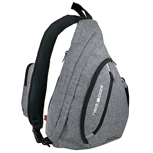 NeatPack Versatile Canvas Sling Bag / Travel Backpack | Wear Over Shoulder or Crossbody - Single Strap Backpack