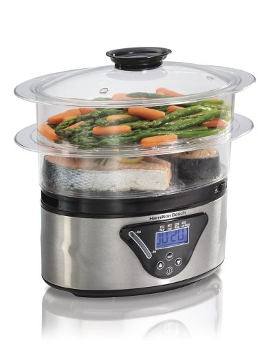 Hamilton Beach Digital Food Steamer - 5.5 Quart (37530A) - Electric Vegetable Steamers