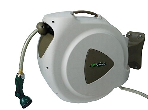 RL Flo-Master 65HR8 Retractable Hose Reel with 8 Spray Pattern Nozzle, 65-Foot - Hose Reels