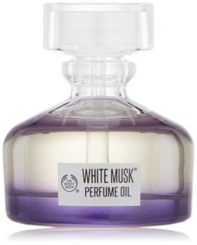 The Body Shop White Musk Perfume Oil, Paraben-Free Fragrance, 0.6 Fl. Oz - Men's Lasting Perfumes