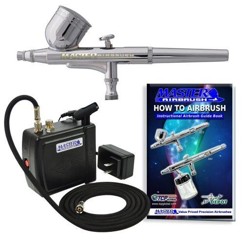 Master Airbrush MAS KIT-VC16- B22 Portable MiniAirbrush Air Compressor Kit