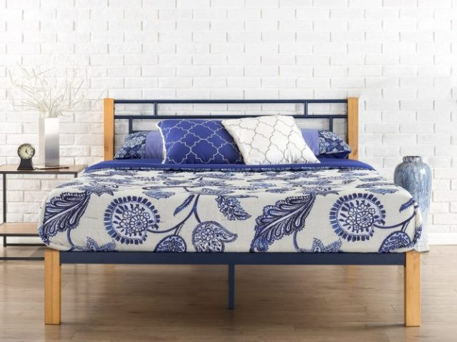 Zinus Epic Metal & Wood Platform Bed with WoodSlat Support