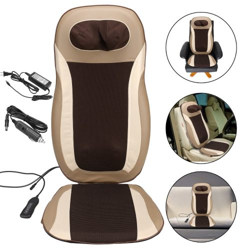 Shiatsu Massage Cushion to Relieve Muscle Tension, Electric Car Seat-Heated Kneading Massage Back Neck Shoulder Thigh Body
