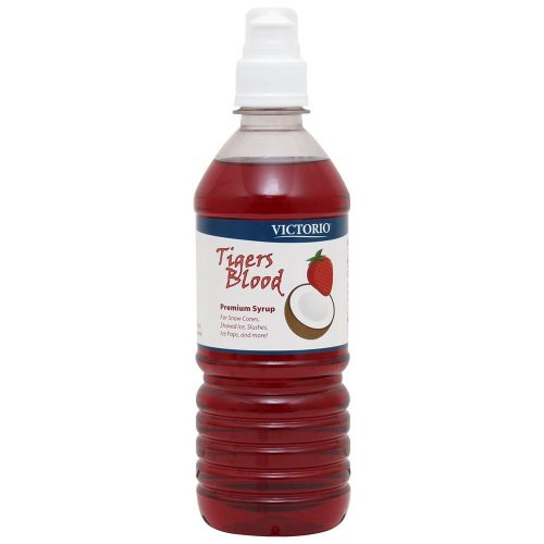 VICTORIO 16-Ounce Shaved Ice/Snow Cone Syrup, Tiger's Blood-Snow cone syrups