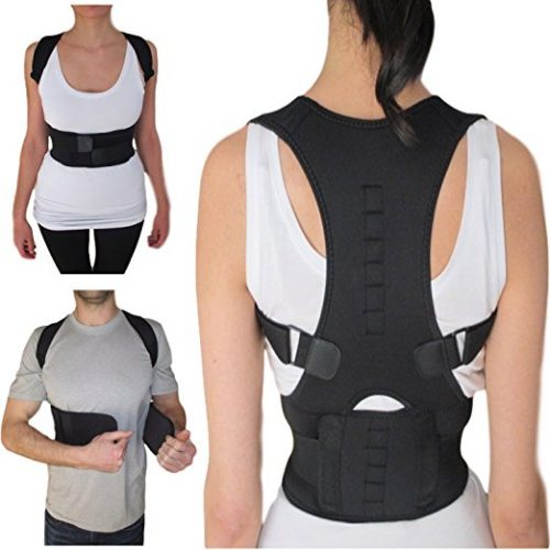 Thoracic Back Brace Posture Corrector - Magnetic Support for Back Neck Shoulder Upper Back Pain Relief Perfect Product for Cervical Spine Fully Adjustable with Magnets ARMSTRONG AMERIKA (Medium)