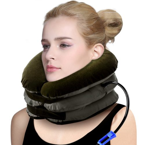 Swtroom Health Cervical Neck Traction Device – Instant Pain Relief for Chronic Neck and Shoulder Pain – Effective Alternate Pain Relieving Remedy,Brown