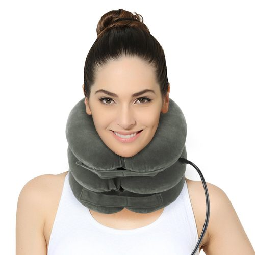 Cervical Neck Traction Device – Effective and Instant Relief for Chronic Neck and Shoulder Pain By Befiling – Great Alternate Pain Relieving Remedy, Gray