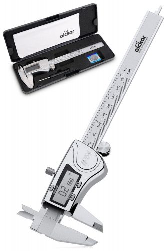 Aickar Digital Caliper, Stainless Steel Electronic Digital Caliper, Digital Calipers 6 Inch with LCD Screen, Durable Accurate Vernier Caliper Tool