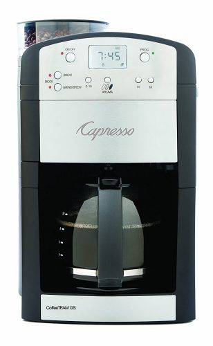 Capresso 464.05 Coffee Team GS10- Cup Digital Coffeemaker with Burr Grinder