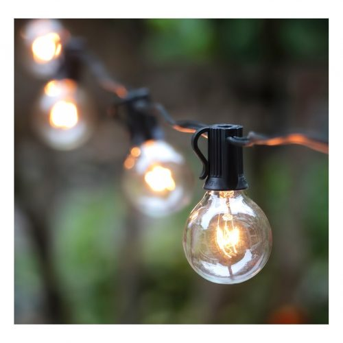 50Ft G40 Globe String Lights with 50 Clear Bulbs for Indoor/Outdoor Commercial Decor, Outdoor String Lights Perfect for Patio Backyard Porch Garden Pergola