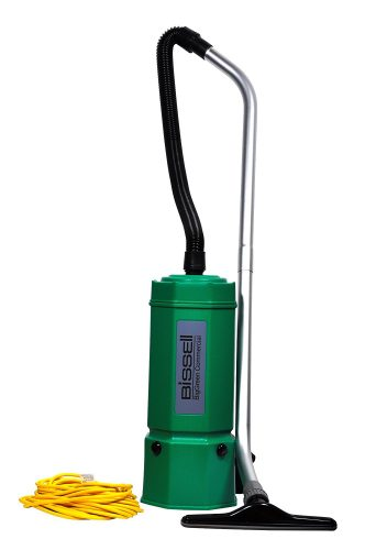 Bissell BigGreen Commercial BG1006 High Filtration Backpack Vacuum, 1080W, 22.5'' Height, 6qt, Capacity, Red