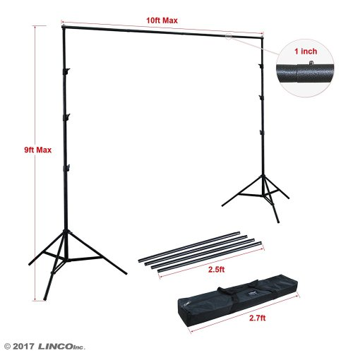 Linco Lincostore 9x10 ft Photography Photo Backdrop Stand Background Support System Kit 4154-4236 - Backdrop Stand