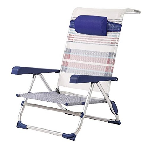 BestMassage Urban Style Beach Sand Chair, Picnic Folding Chair With Aluminum Frame One Pack