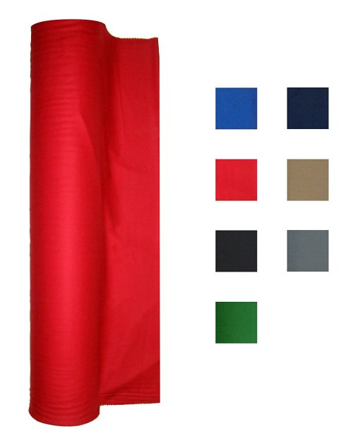 21 Ounce Pool Table - Billiard Cloth - Felt Priced Per Foot Choose From English Green, Blue, Navy Blue, Black, Red or Tan (Red)