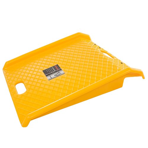 Curb Ramp, Heavy Duty Portable Poly Ramp With 1000 Lbs Weight Capacity By Stalwart (For Delivery, Hand Truck, Carts, Wheelchairs, Walkers) (Yellow)