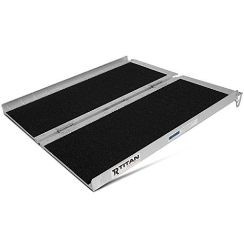 "Titan 3' x 30"" Non-Skid Aluminum Briefcase Traction Ramp Folding Portable"