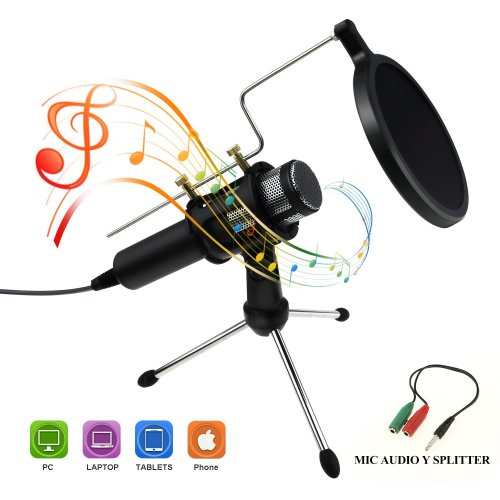 Philonext Condenser Microphone, Portable Mini Condenser Microphone - external iphone microphone