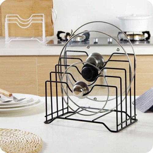 Pot Lid Holder, Lid Organizer, Pot Lid Rack Storage, Pan Lid Cover Cabinet Pantry Holder Rack Organizer, Multifunctional Kitchen Cookware Chopping Board Organizer Storage Rack By MelegOtthon
