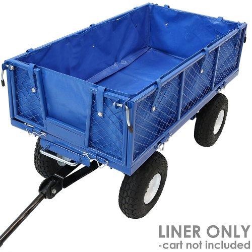 Sunnydaze Liner for Heavy Duty Dump Cart-Blue - Beach Wagons