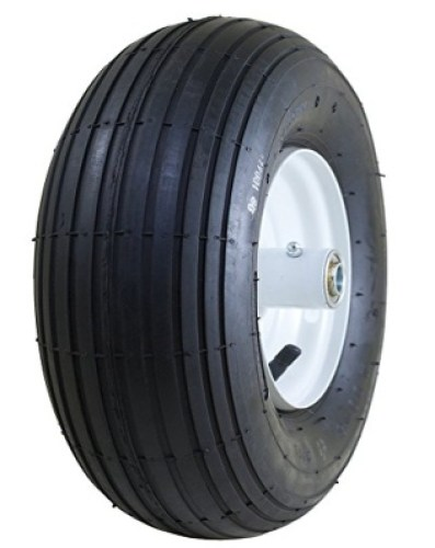 "Marathon 4.00-6 Pneumatic (Air Filled) Tire on Wheel, 3"" Hub, 5/8 Bearings - WHEELBARROW WHEEL"