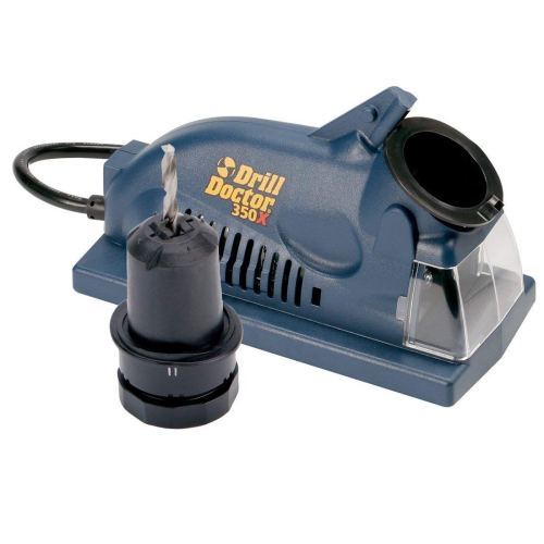 Drill Doctor 350X Drill Bit Sharpener, Engineered for Versatility in handling popular wood & metal bits, Set Point Angle of 118°, Sharpens 3/32 to 1/2 standard twist bits
