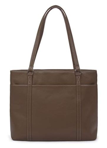 Overbrooke classic laptop tote bag – vegan leather women's shoulder bag for laptops up to 15.6 inches