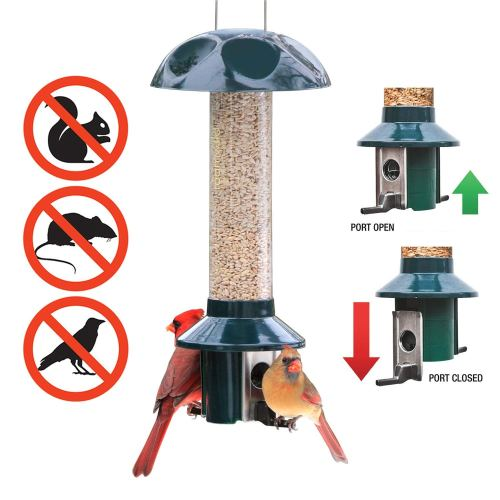 Roamwild PestOff Squirrel Proof Bird Feeder Mixed Seed Sunflower Heart Version - Squirrel Proof Bird Feeder