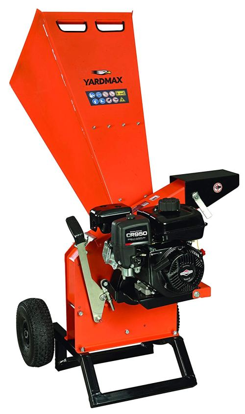 "YARDMAX YW7565 Chipper Shredder, 3"" Diameter, Briggs & Stratton, CR950, 6.5HP, 208cc"