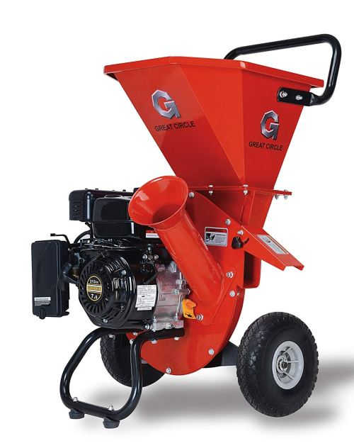 "GreatCircleUSA 7HP Heavy Duty 212cc Gas Powered 3 in 1 Multi-Function Pro Wood Chipper Shredder with 3"" max Wood Diameter Capacity, 3 Years Warranty, CARB & EPA Certified, Can Ship to California"