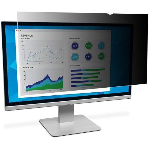 """3M Privacy Filter for 24"""" Widescreen Monitor, Protects your confidential information, Reduces blue light (PF240W9B) - Monitor Privacy Screen"""