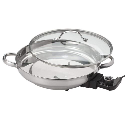 Aroma Housewares AFP-1600S Gourmet Series Stainless Steel Electric Skillet