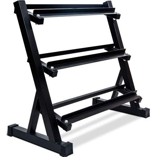 Merax 3 Tier Heavy-Duty Dumbbell Rack 800 LBS Weight Capacity