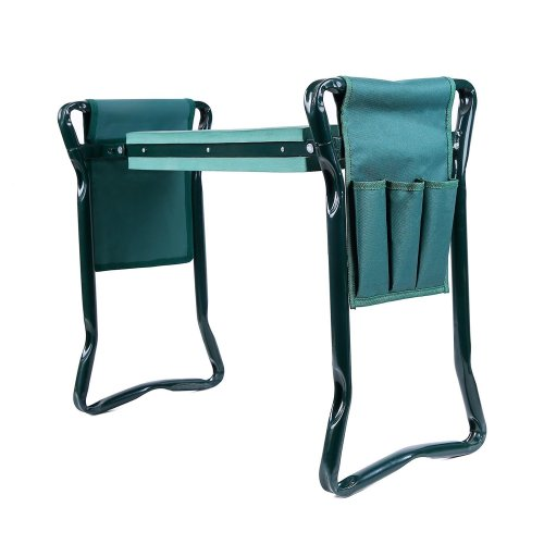 Ohuhu Garden Kneeler and Seat with 2 Bonus Tool Pouches - Gardening Stool