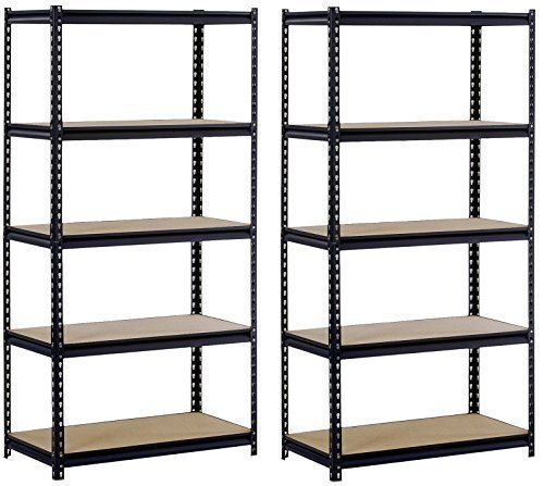 EDSAL Sandusky UR185P-BLK Black Steel Shelving Unit