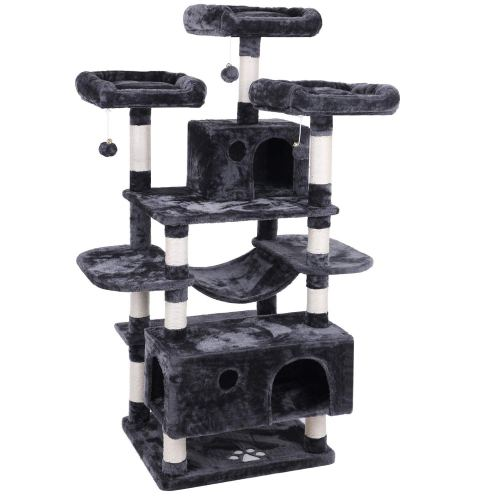 BEWISHOME Cat Tree Condo Furniture Kitten Activity Tower