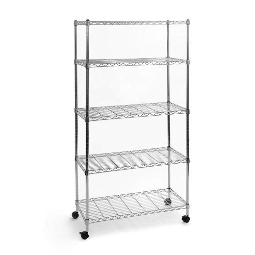 Seville Classics 5-Tier UltraZinc Steel Wire Shelving Unit